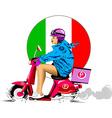 Italian pizza delivery vector image