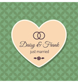 Just married wedding card vector image