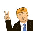 March 11 2016 Donald Trump portrait vector image vector image
