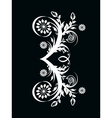 number three made with floral ornament on blac vector image