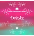 Drinks Monograms Lettering vector image