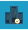 data center server hardware computer system check vector image