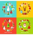 Happy New Year Concepts Set vector image