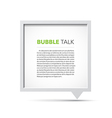 3D bubble talk frame vector image vector image