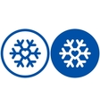 heart in snowflake vector image