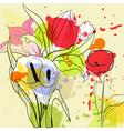 flower grunge vector image vector image