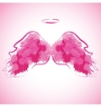 Angel nimbus and wings vector image
