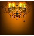 chandelier and spiderweb vector image vector image