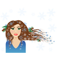 Winter female character vector image