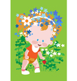 baby grass vector image