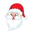 Classic Santa Claus Head vector image vector image