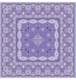 Lilac handkerchief with delicate blue ornaments vector image