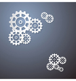 Abstract Cogs Wheels Paper Background vector image