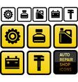 auto repair shop icons vector image