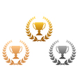 Golden silver and bronze awards vector image