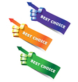 hand stickers vector image