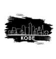 kobe skyline silhouette hand drawn sketch vector image