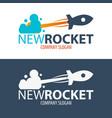 rocket startup business rocket logo vector image