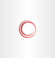 round spiral red circle frame vector image