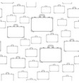 suitcase contour pattern vector image
