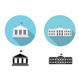 white house icons in flat and silhouette style vector image