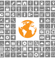 world icons web set vector image