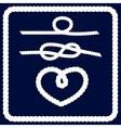Nautical rope frame set vector image