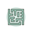 Labyrinth colorful icon vector image
