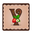 letter y candies chocolate vector image