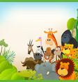 wildlife animals background vector image vector image