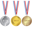 2014 Medals vector image vector image