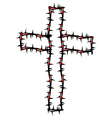 cross silhouette vector image