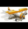 A vintage orange and gray coloured plane vector image