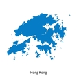 Detailed map of Hong Kong vector image vector image