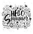 Print for T-shirt Hello summer vector image vector image