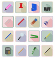 stationery flat icons 19 vector image vector image