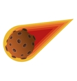 comet or asteroid icon vector image