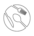 figure plate with cutlery icon image vector image