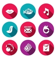 Set of Silence Icons Muteness fish sound vector image