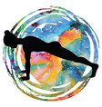 women silhouette high plank yoga pose uttihita vector image