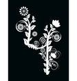 number three made with floral ornament on blac vector image vector image