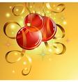 Christmas ball  background EPS10 vector image vector image