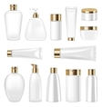 Set Cosmetic Plastic Bottle and Tube Isolated on vector image