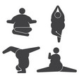fat overweight woman obese women exercises and vector image