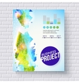 Dynamic fresh business project template vector image