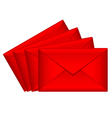 red love letters vector image vector image