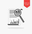 Analyzing statistics concept icon Flat design gray vector image