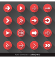 Arrow Sign Flat Icons Set vector image