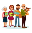 Celebrating family with gifts or presents vector image