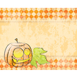 checkered background pumpkin decorating for vector image